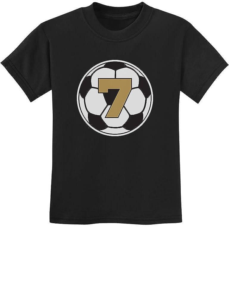 Tstars 7 Year Old Seventh Birthday Gift Soccer Youth Kids T-Shirt