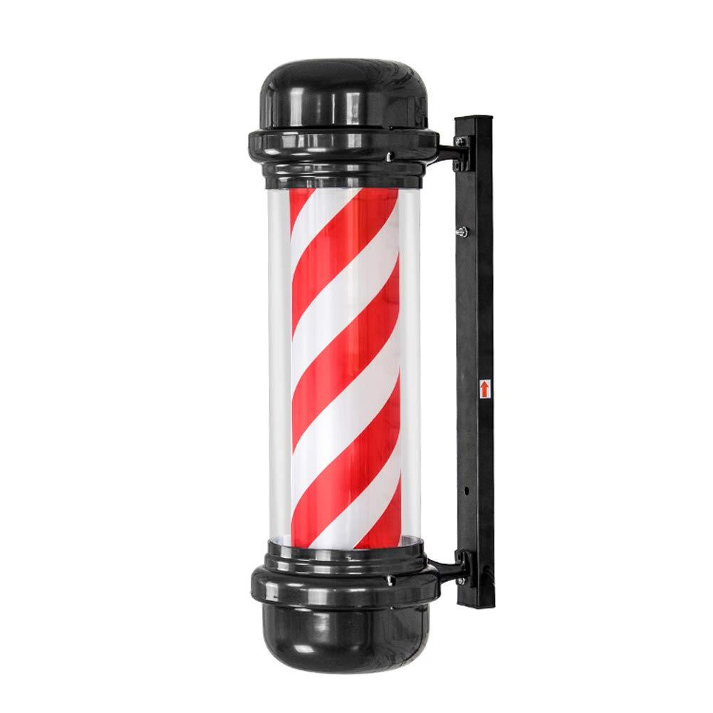Palo Da Barbiere Rotante Di Alta Qualità Illuminato Con Una Forma A Freccia Per Parrucchiere - Bianco Rosso 29X73 Cm