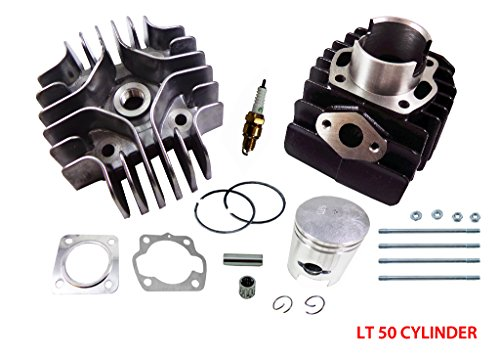 Top End Engine - Complete Engine Cylinder Top End Kit with Piston Ring Gasket for Suzuki LT A50 LT50 JR50 LT JR 50