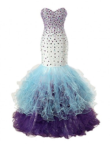 Blu Arcobaleno Fanciest Linea Donna Ad A Vestito wfCqxX1CU