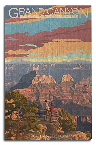 Lantern Press Grand Canyon National Park, Arizona - Bright Angel Point (10x15 Wood Wall Sign, Wall Decor Ready to Hang)