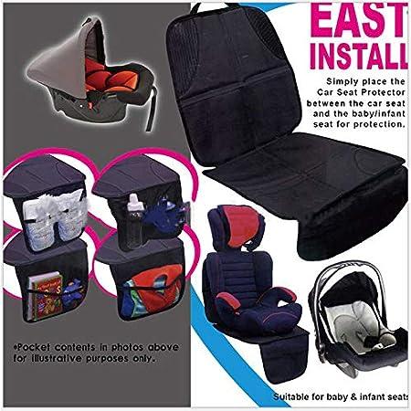 Yuekun Hochwertiger Autositzschoner Schwarz Extra Dick Gepolsterte Kindersitzunterlage Autositzauflage Hervorragend Geeignet Für Kindersitze Beauty