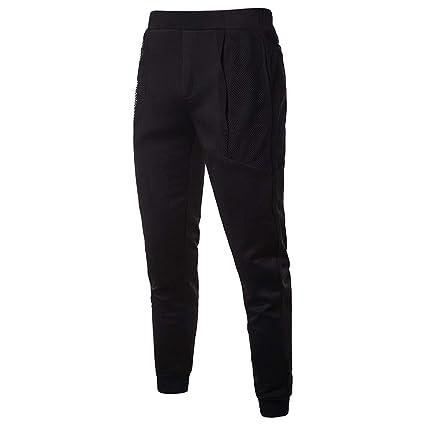 Pantalones Hombre Chandal,Modaworld Pantalones De Malla con ...