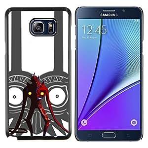 Tribal Red Devil- Metal de aluminio y de plástico duro Caja del teléfono - Negro - Samsung Galaxy Note5 / N920