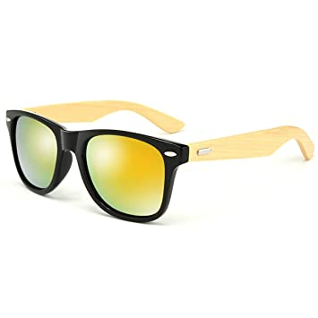 9ced6ccd9ec Image Unavailable. Image not available for. Color  HALORI UV400 Bamboo  Sunglasses ...