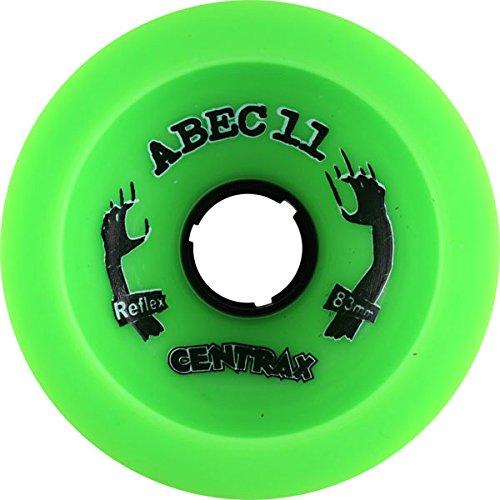 瞑想する作家一時停止ABEC 11 Skateboards Classic Centrax Green Skateboard Wheels - 77mm 78a (Set of 4) by ABEC 11
