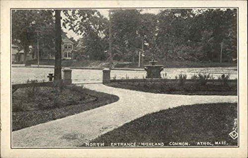 North Entrance to Highland Common Athol, Massachusetts Original Vintage Postcard ()