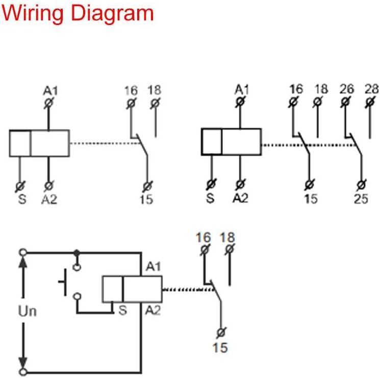 con 10 Funciones Montaje en riel DIN AC//DC 12V ~ 240V GRT8-M1 Multifuncional Pbzydu Rel/é Temporizador de retardo
