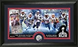 NFL New England Patriots Super Bowl XLIX Champions Minted Panoramic Photo Minted Coin, 21'' x 14'' x 3'', Black