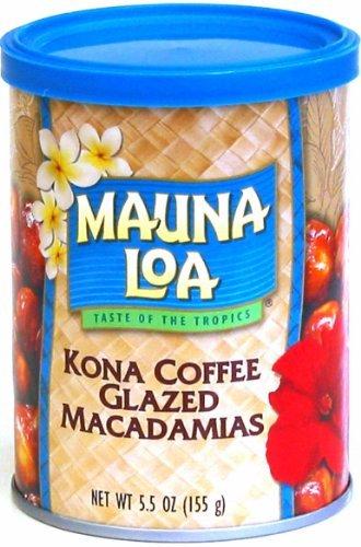 Kona Coffee Macadamia (Mauna Loa Kona Coffee Glazed Macadamia Nuts, 5.5-Ounce Can (Pack Of 3))