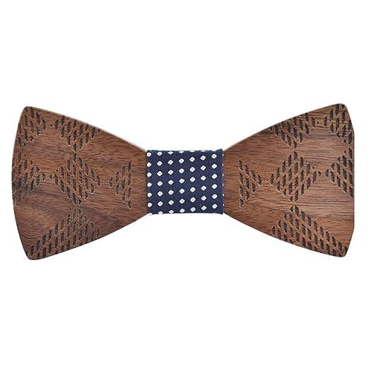Caballero pajarita para hombre Corbata de lazo de madera de las ...