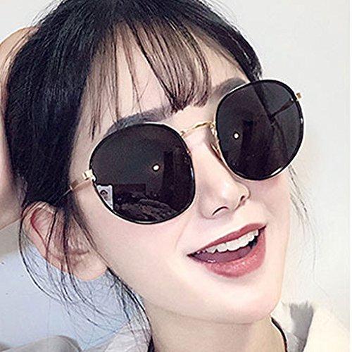 Femeninas Coreana Uv Marea Protección Huwai Gafas Nuevas Redonda Polarizadas Cara Sol De 8qaIO