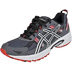 ASICS Men's Gel-Venture 5 Running Shoe (10 D(M) US, Castle Rock/Silver/Fiery Red)