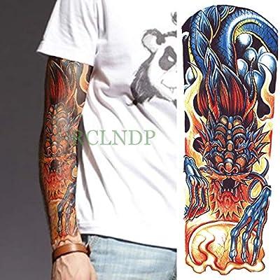 5Pcs-Etiqueta engomada del Tatuaje a Prueba de Agua Dragón Animal ...