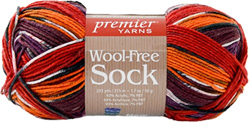 Premier Yarns Flame Wool-Free Sock Yarn