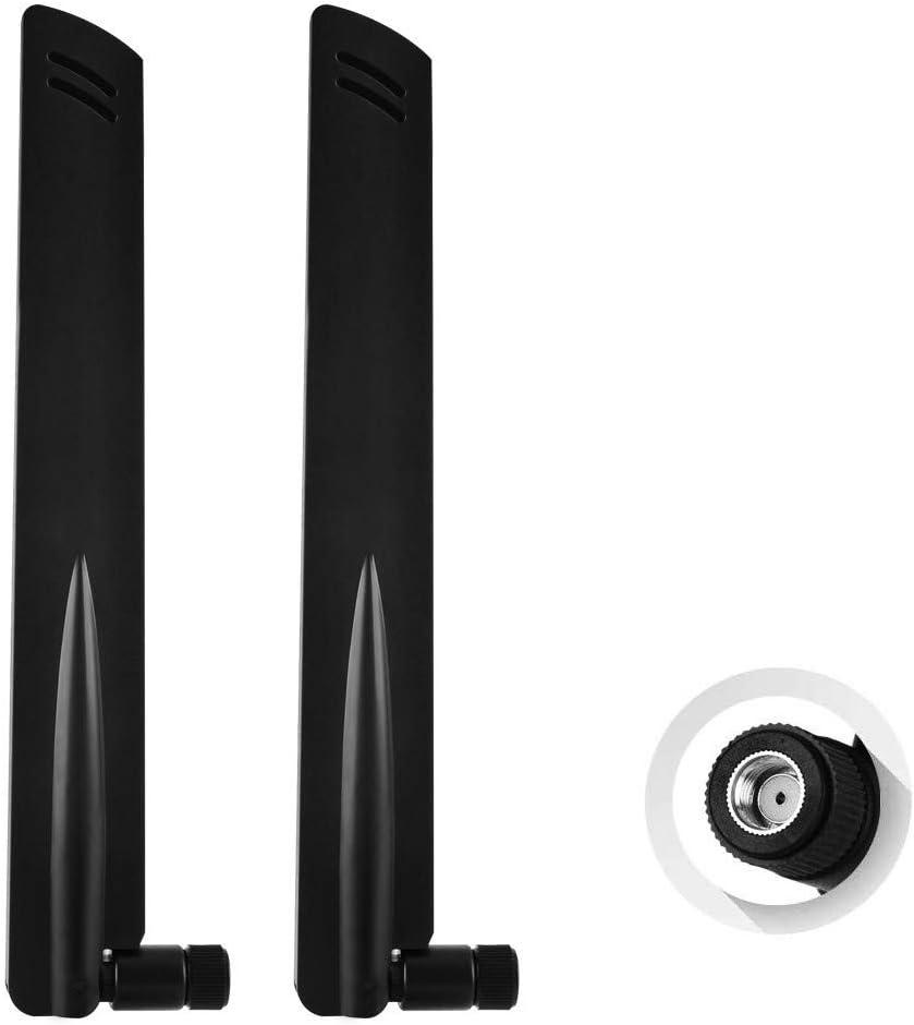 NETVIP RP-SMA Antena 4G/3G/LTE Antena 10dBi WiFi Antenna Amplificador de señal para Router Modem Huawei B315/B593 cámara de Seguridad con Conector ...