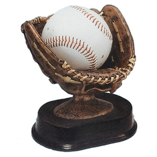 Baseball Glove Holder (Baseball Holder Trophy with 3 lines of custom text)