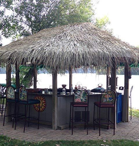 Tiki Bar Palm Thatch Grass Bundle (4 pieces - each sheet is 5'H x 4'W) by Caribbean (Image #5)