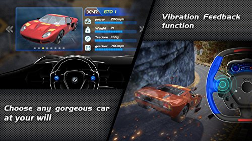 Resulzon 3D VR Glasses Virtual Reality Headset for Racing Games, Bluetooth Connection, 360°Panoramic, Force Feedback Steering Wheel, for IOS9.0/Android 5.0 Above Version by Resulzon (Image #1)