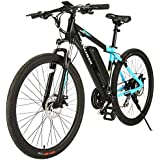 ANCHEER 350/500W Electric Bike 27.5'' Adults Electric Bicycle/Electric Mountain Bike, 20MPH Ebike with Removable 10/10.4Ah Battery, Professional 21/24 Speed Gears(4-12days Shipping)