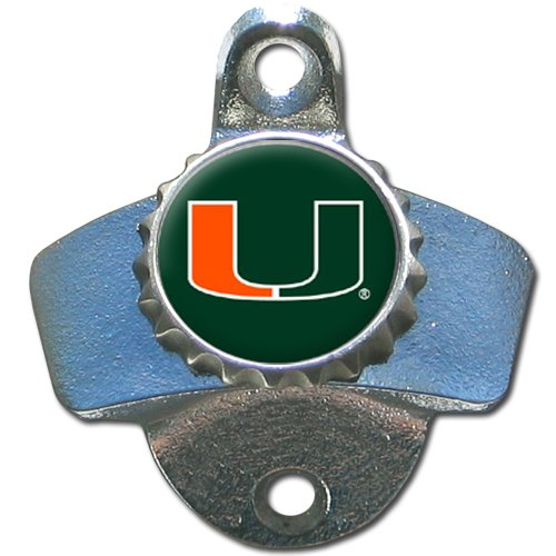 NCAA Miami Hurricanes Wall Bottle (Ncaa Miami Hurricanes Bottle Opener)