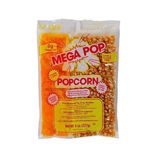 (Beach City Wholesalers Mega-Pop Popcorn Packet w/coconut oil 8 oz for 6 oz kettle (36 count))