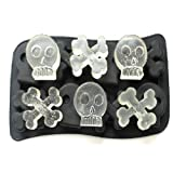 Skull Mold Silicone Mold Cooking Tools Cookie Cutter Ice Molds Ice Trays Ice Cream Tools Ice Cube Tray-