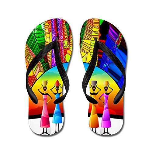 CafePress African American Women - Flip Flops, Funny Thong Sandals, Beach Sandals Black