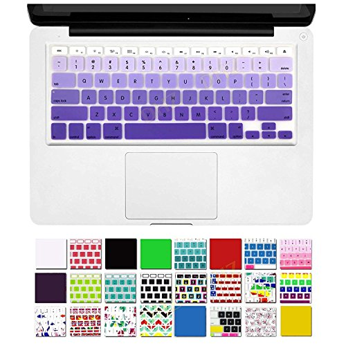 DHZ Purple Gradient Keyboard Cover Silicone Skin for 2015 or Older Version MacBook Air 13 MacBook Pro 13 15 inch (No Fit for 2018 MacBook air 13 or 2017/2016 Released New MacBook Pro 13 15)