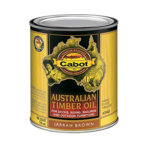 (CabotStain 140.0003460.005/3460 Australian Timber Oil Penetrating Oil 1 Quart)