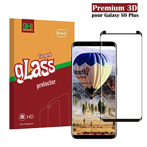 Samsung Galaxy S9 Plus Panzerglas Schutzfolie, Hohe Qualität 3D Displayschutzfolie [Ultra Klar] [Anti-Kratzen] [Anti-Fingerabdruck] [Blasenfreie Installation] Gehärtetes Glas Panzerglas Folie für Samsung Galaxy S9 Plus