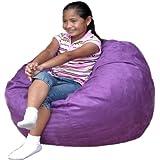 Cozy Sack 2-Feet Kids Foam Bean Bag Chair, Small, Purple
