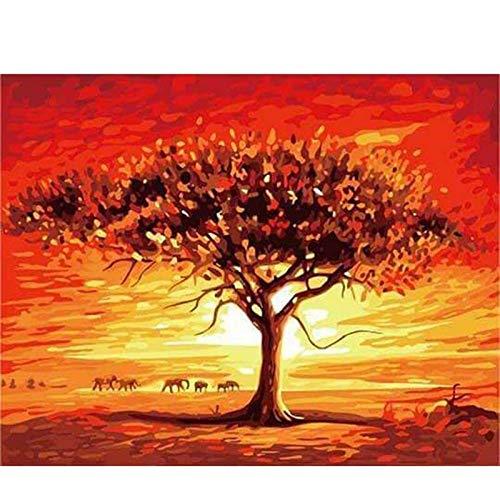 KYKDY DIY gerahmte malerei by zahlen ölfarbe fotowand kunst digitale bilder malerei dekor für heimtextilien geschenke c011,40x50cm kein Rahmen, S003 B07PBBVJMJ | Perfekte Verarbeitung