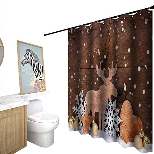 BlountDecor Moose Shower Curtains 3D Digital Printing for sale  Delivered anywhere in USA