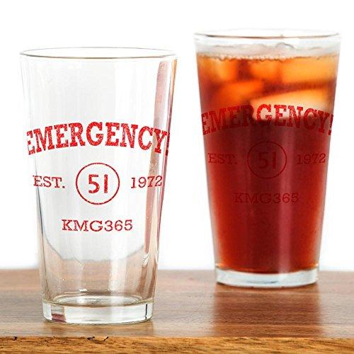 CafePress EMERGENCY! Squad 51 Vintage Pint Glass, 16 oz. Drinking Glass