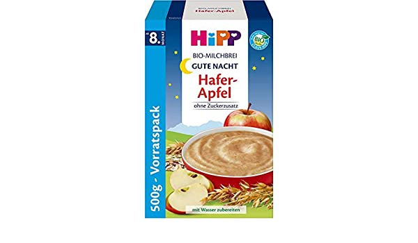 Hipp Orgánico gachas de avena leche buenas noches papilla de manzana, 500g: Amazon.es: Alimentación y bebidas