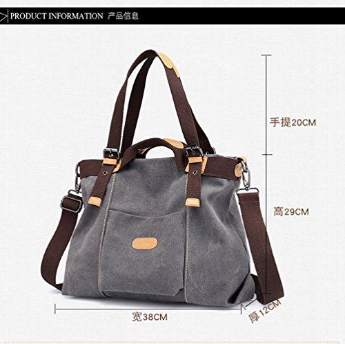 Large Canvas Travel FLHT Shoulder Backpack Brown Lightweight Handbag Casual Mom Student Bag Ladies Bag Fashion Capacity Messenger Handbag Comfortable wYx5OqSx4R