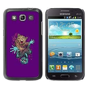 TopCaseStore / la caja del caucho duro de la cubierta de protección de la piel - Cute Cat & Skeleton Abstract - Samsung Galaxy Win I8550 I8552 Grand Quattro
