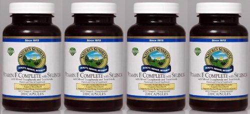 Naturessunshine Витамин Е В комплекте с Селен 400 МЕ Поддержка системы кровообращения 200 мягких капсул (в упаковке 4)