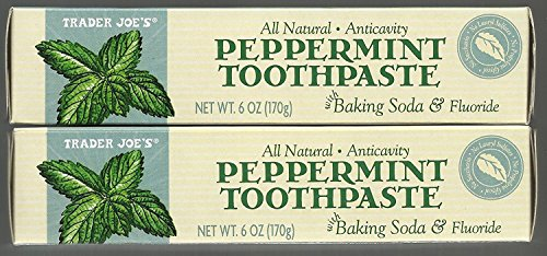 Trader Joe's All Natural Anticavity Peppermint Toothpaste with Baking Soda and Fluoride 6oz (Pack of (Sls Free Toothpaste)