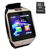 New GSM Dz09 Heartrate Test Smart Watch Phone for Android Iphone Lg Sony HTC with 4GB Memory Card Pedometer Anti-lost Camera