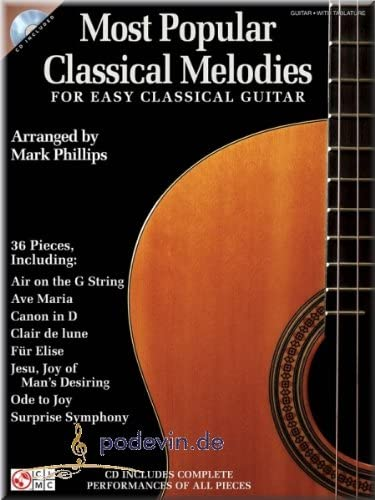 Most Popular Classical Melodies for Easy Classical Guitar ...