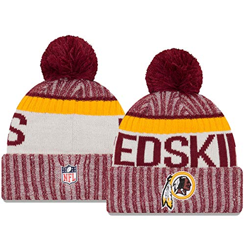 Amazon.com   New Era Knit Washington Redskins Red On Field Game Sideline  Sport Knit Winter Stocking Beanie Pom Hat Cap 2015 ...   Sports   Outdoors 146c877cbeb0