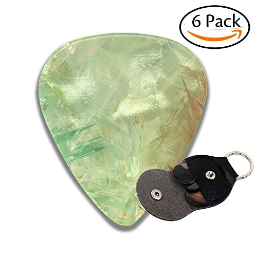 - Wxf Brushed Painted Abstract Background Brush Stroked Painting Stylish Celluloid Guitar Picks Plectrums For Guitar Bass .71mm 6 Pack