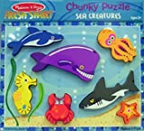 7 Pack MELISSA & DOUG SEA CREATURES CHUNKY PUZZLE