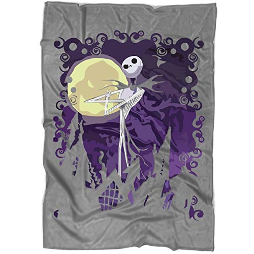 Jack Skellington Pumpkin King Blanket for Bed and Couch, The Nightmare Before Christmas Blankets - Perfect for Layering Any Bed (Medium Blanket (60