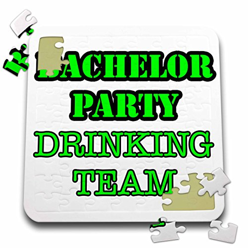 Stag,Bachelor Party - Bachelor Party Drinking Team Green - 10x10 Inch Puzzle (pzl_261066_2) by 3dRose