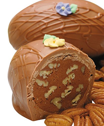 Philadelphia Candies Fudge Pecan Nut Easter Egg, Milk Chocolate 8 Ounce Gift Box