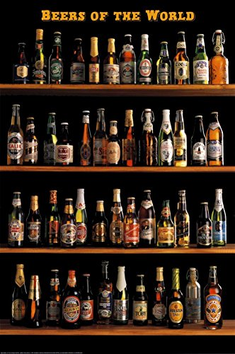 Beers of The World Poster 24 x 36in