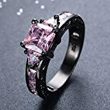 Bamos-Jewelry-Pink-Diamond-Black-Gold-Christmas-Gift-Best-Friend-Engagement-Wedding-Rings-for-Women-Size-5-11